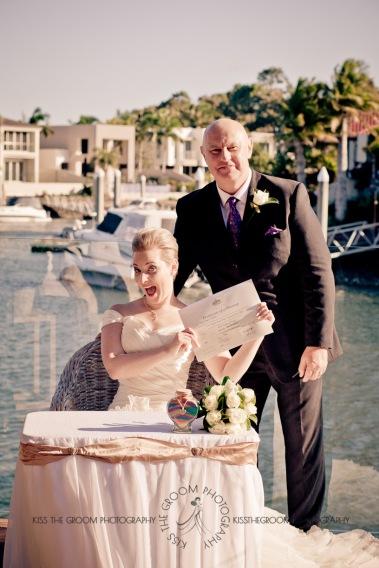 sanctuary cove hope island wedding samantha paul kiss the groom photography-0210