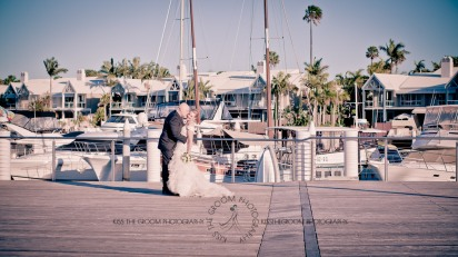sanctuary cove hope island wedding samantha paul kiss the groom photography-0390