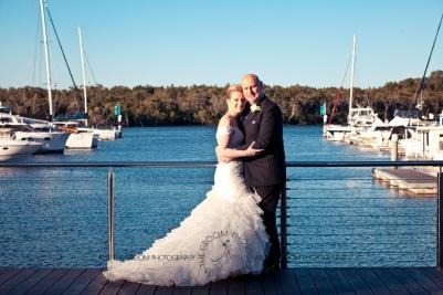 sanctuary cove hope island wedding samantha paul kiss the groom photography-0424