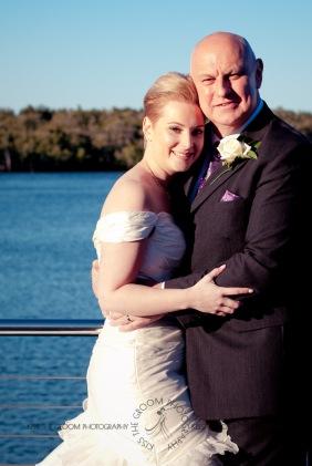 sanctuary cove hope island wedding samantha paul kiss the groom photography-0432
