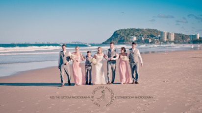 north burleigh beach caroline luke wedding kiss the groom gold coast photography-0913