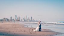 north burleigh beach caroline luke wedding kiss the groom gold coast photography-1004