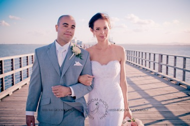 woodys point suttons beach emma jordan wedding kiss the groom photography-0629