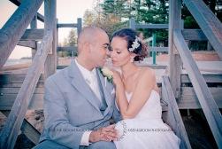 woodys point suttons beach emma jordan wedding kiss the groom photography-0715