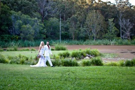 cedar creek lodges trina steve wedding kiss the groom mt tamborine wedding photographer-0585