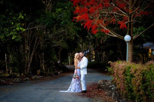 cedar creek lodges trina steve wedding kiss the groom mt tamborine wedding photographer-0643