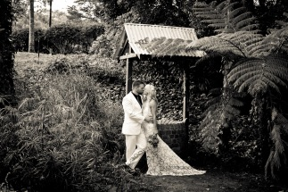 cedar creek lodges trina steve wedding kiss the groom mt tamborine wedding photographer-0672