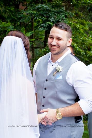 st bernards mt tamborine nikita james wedding kiss the groom mt tamborine wedding photographer-0457