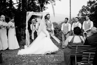 st bernards mt tamborine nikita james wedding kiss the groom mt tamborine wedding photographer-0496