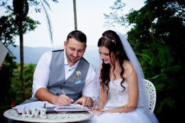 st bernards mt tamborine nikita james wedding kiss the groom mt tamborine wedding photographer-0508