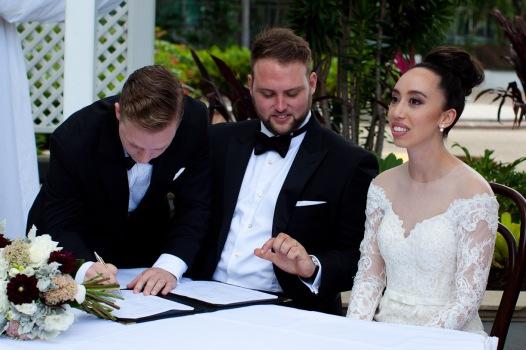 stamford plaza brisbane wedding tiane alex kiss the groom photography-0559