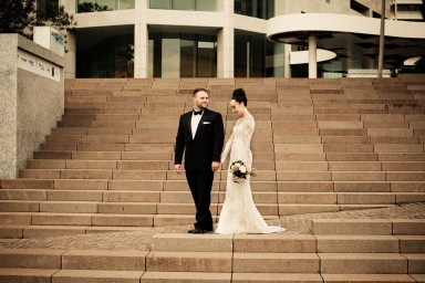stamford plaza brisbane wedding tiane alex kiss the groom photography-0884