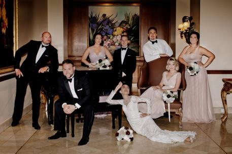 stamford plaza brisbane wedding tiane alex kiss the groom photography-0942