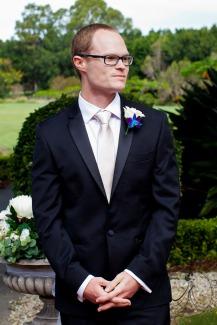 lakelands golf club wedding talia tim kiss the groom-25