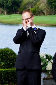 lakelands golf club wedding talia tim kiss the groom-29