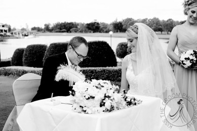lakelands golf club wedding talia tim kiss the groom-40