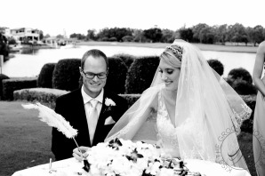 lakelands golf club wedding talia tim kiss the groom-41