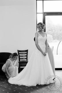 lakelands golf club wedding talia tim kiss the groom-9