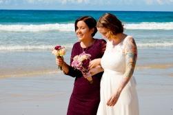 burleigh heads wedding kiss the groom-0419