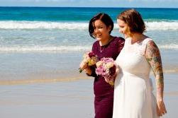 burleigh heads wedding kiss the groom-0420