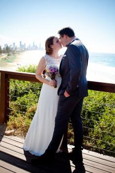 burleigh heads wedding kiss the groom-0455